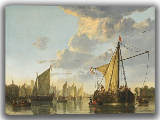 Cuyp, Aelbert: The Maas at Dordrecht. Fine Art Canvas. Sizes: A4/A3/A2/A1 (004078)